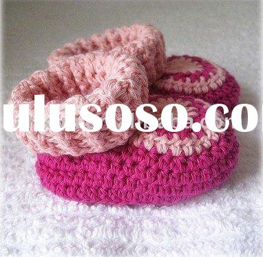 hand knit acrylic baby shoes