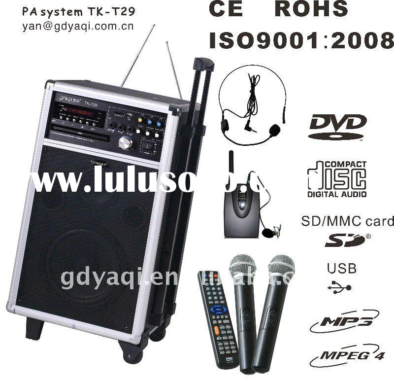 high quality wireless karaoke player with amplifier TK-T29