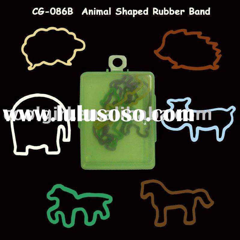 hot selling color Animal shaped rubber bands