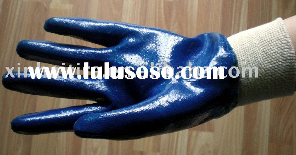 jersey lining cheap nitrile gloves