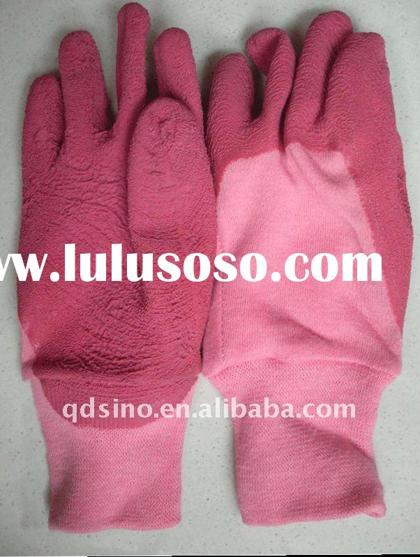 kids garden gloves latex coated interlock gloves