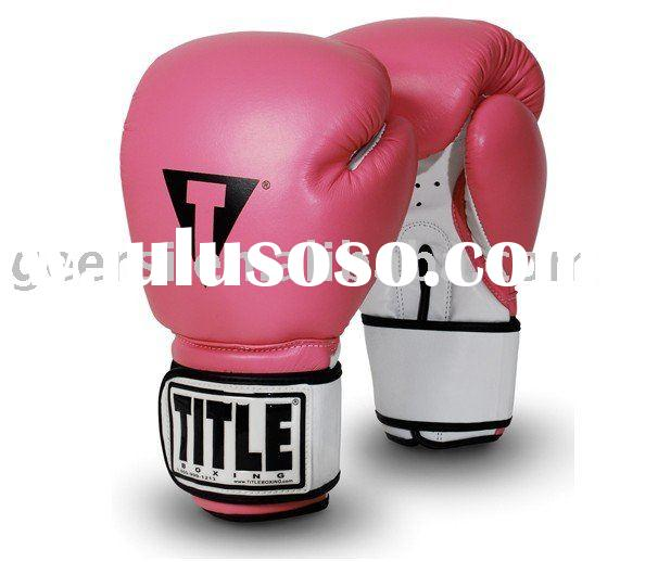 lady pu /leather boxing gloves