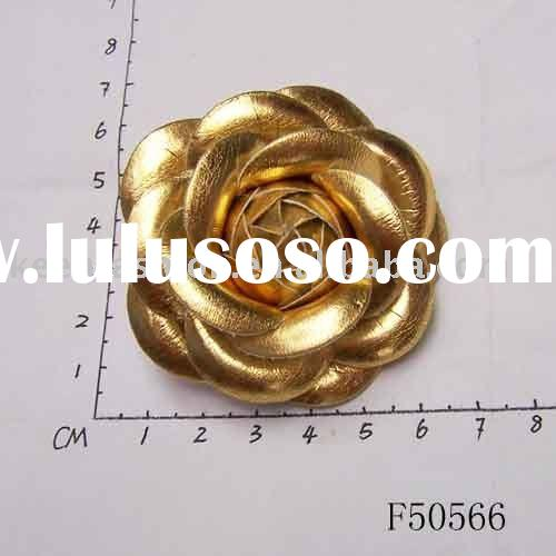 leather shoe flower / leather shoe clip F50566