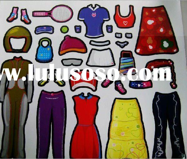 lovely magnetic dress-up games for girls/magnetic puzzle
