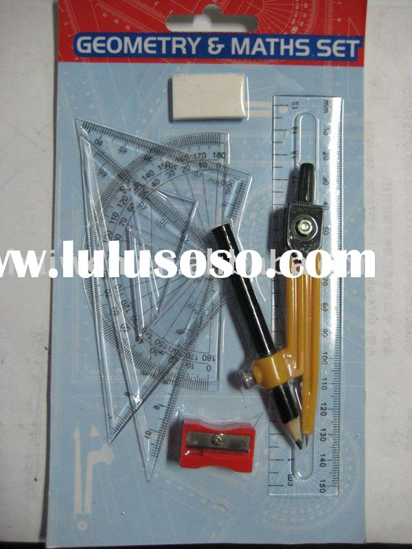 math set,stationery set, compass set,
