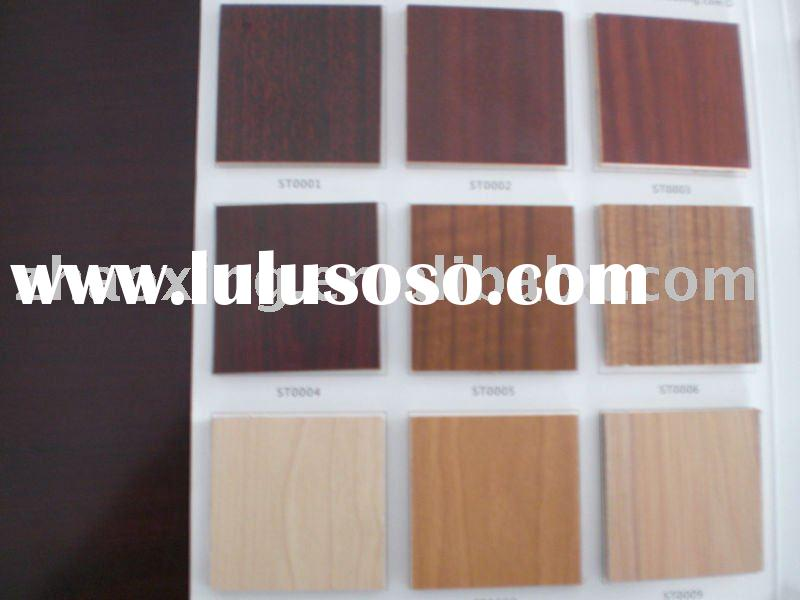 melamine MDF/plywood/particle board with solid color and wood grain