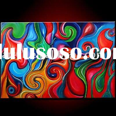 modern abstract oil painting art new design for decoration