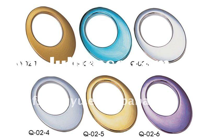 morden plastic shower curtain hanging rings/eyelet