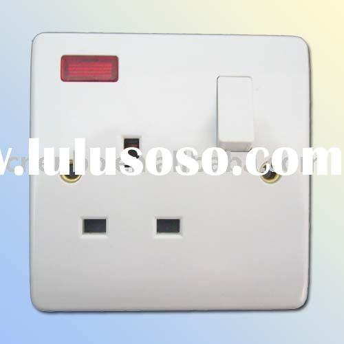 one gang electrical wall switch and socket Illuminated