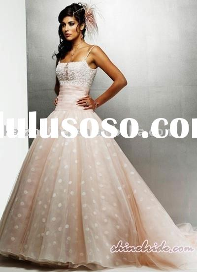 organza bead ribbons pink ball wedding dress 2011 hot bridal gown