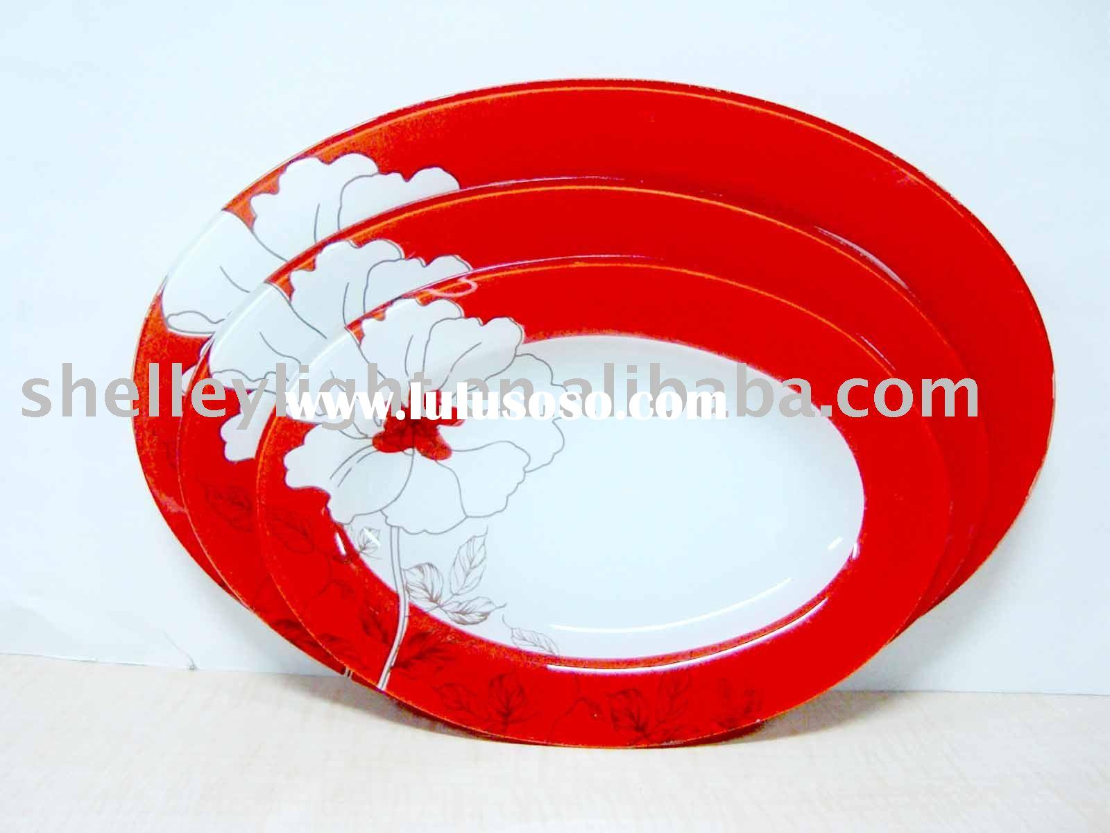 oval glass tray