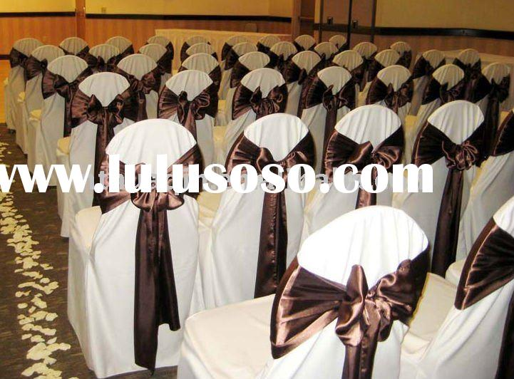 polyester chair cover wedding white chair cover