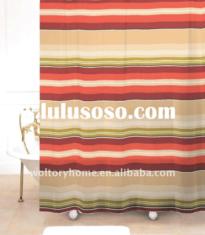 polyester shower curtain/water-proof curtain