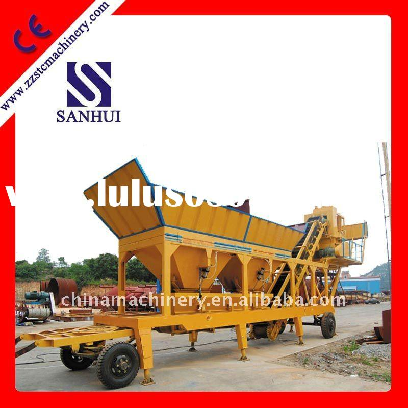 professional mobile concrete batching plant