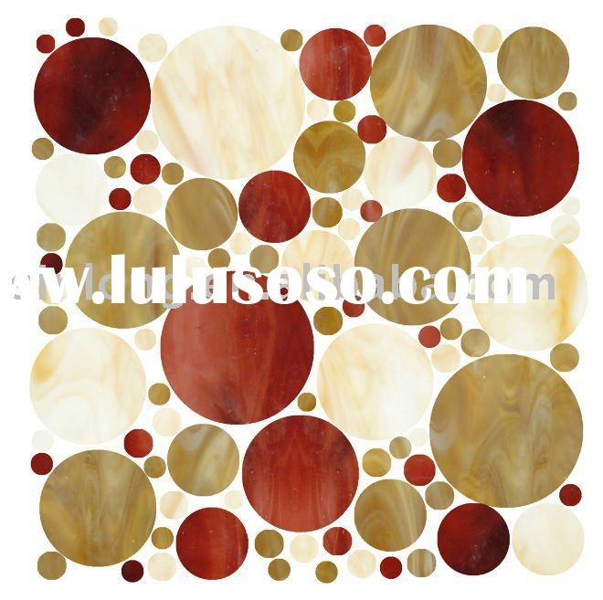 round glass artistic mosaic tile