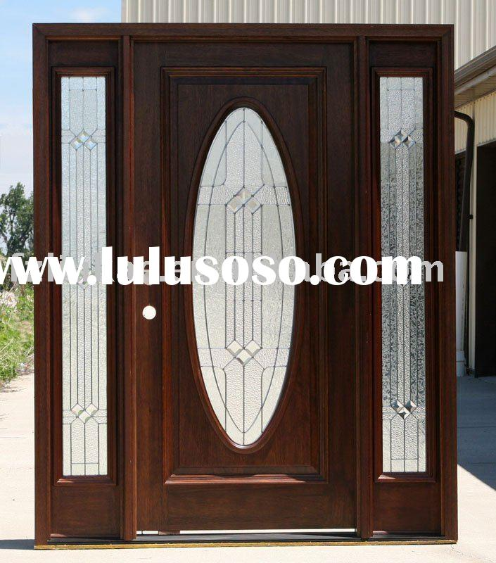 Double entry wood doors solid wood double entry door for Solid wood exterior doors for sale