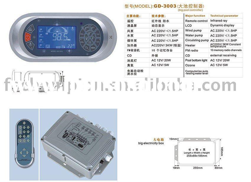 spa controller & spa hot tub control panel GD-3002 / GD-3003