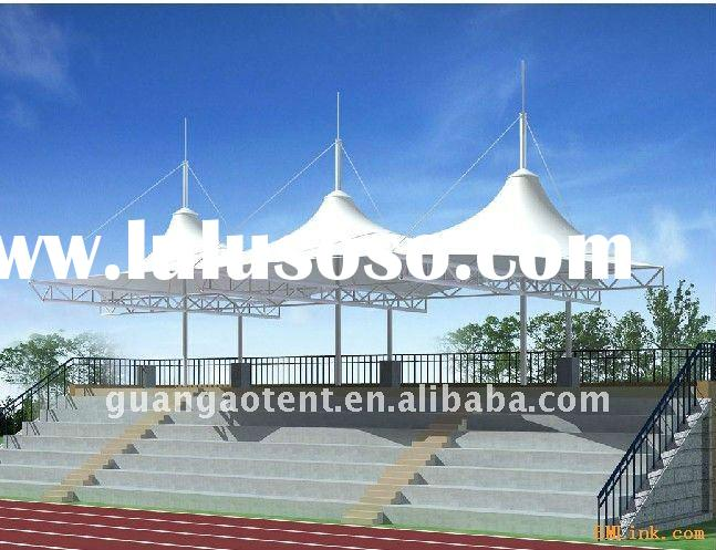 steel shade structure,membrane structure for resort