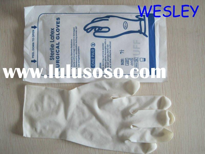 sterile latex surgical gloves without powder