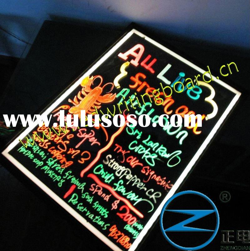 the fluorescent led menu/display board,china canton fair