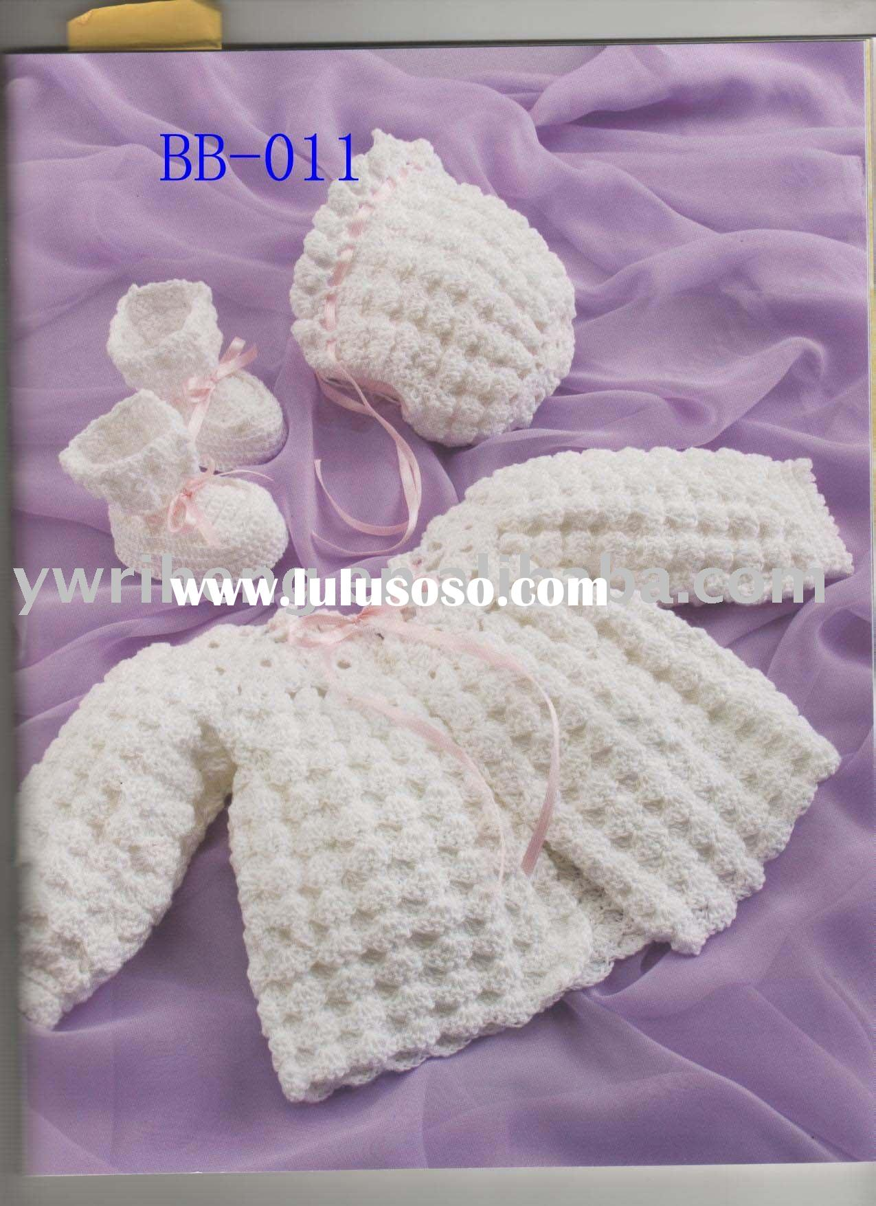 the newest crochet baby dress-white
