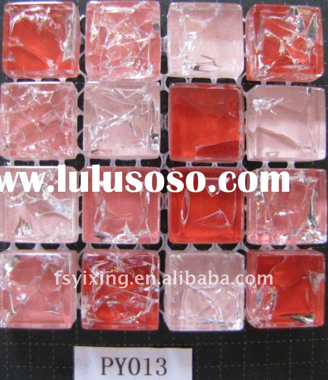 "thickness 8mm 3/4"" luster glazed glass mosaic, broken glass mosaic, glass mosaic tile foshan fa"