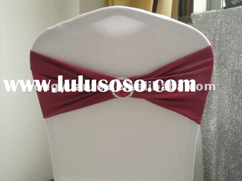 Lycra Spandex Chair Band With Rhinestone Ring And Chair