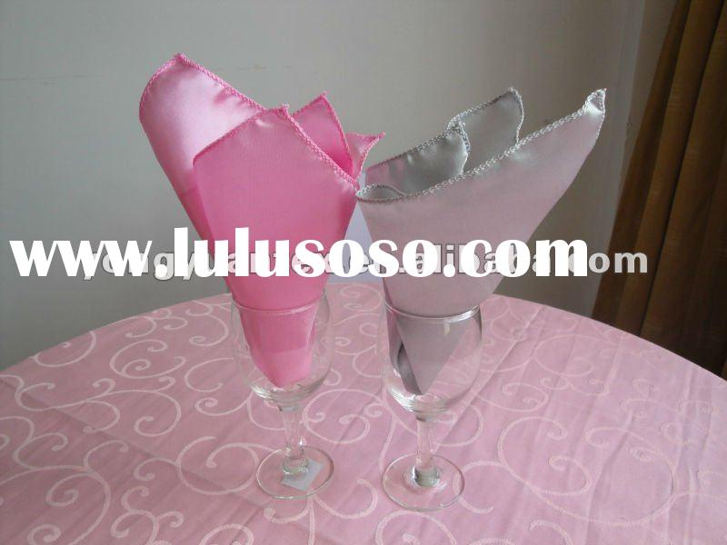 wedding satin table napkin hotel satin napkin for banquet