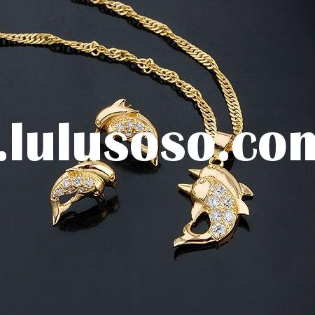 wholesale 18k gold plated jewelry sets