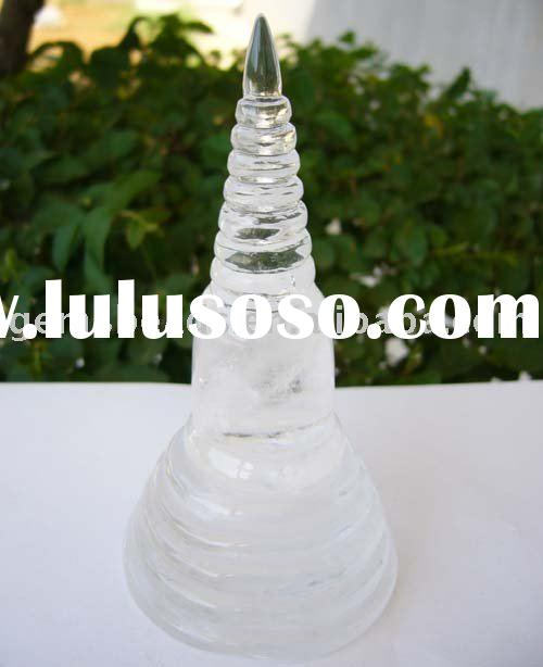 wholesale natural crystal/stone carving tower craft