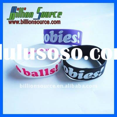 wholesale perfect gift rubber wrist bands