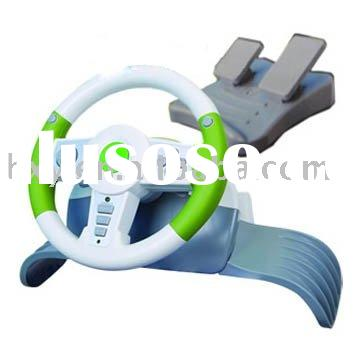 wireless steering wheel for xbox 360/ps2/ps3/pc usb, video game accessories