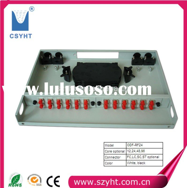 with Factory price ,24 Cores -Fixed Rack-mount Type ODF/ Fiber optic patch panel