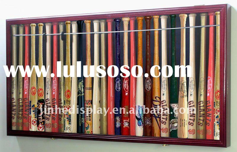 wood baseball bat display case/wooden box for collectible