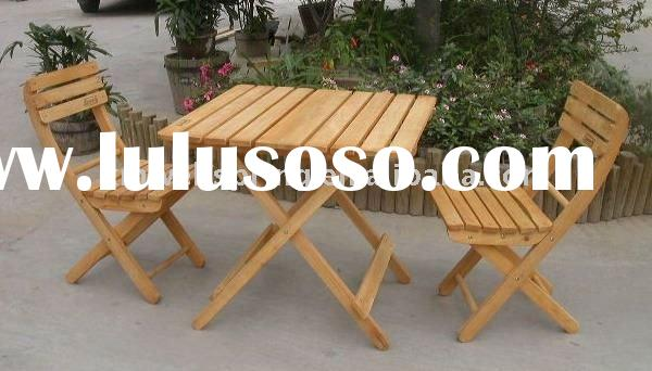 wooden garden table chairs (SG010)