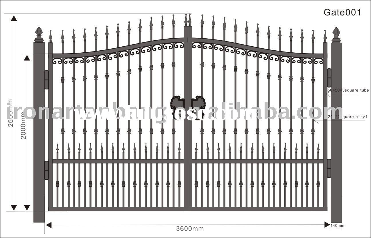 wrought iron gate,iron gate,artistic iron gate-012