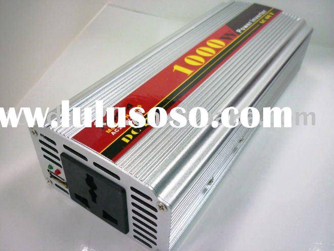 1000W Inverter ,convert DC 12V in car to AC city power 220V/230V/110V, high efficiency