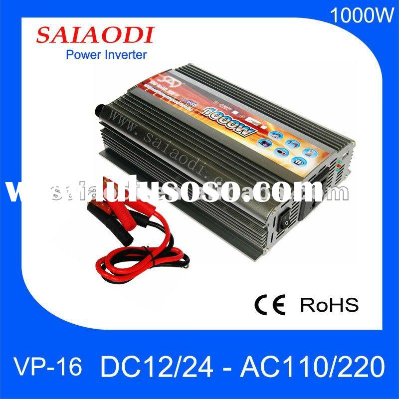 1000W MAX 2000 PEAK power battery power inverter DC12V/AC220V