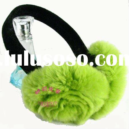 100% really fur rabbit winter ear muffs ER878