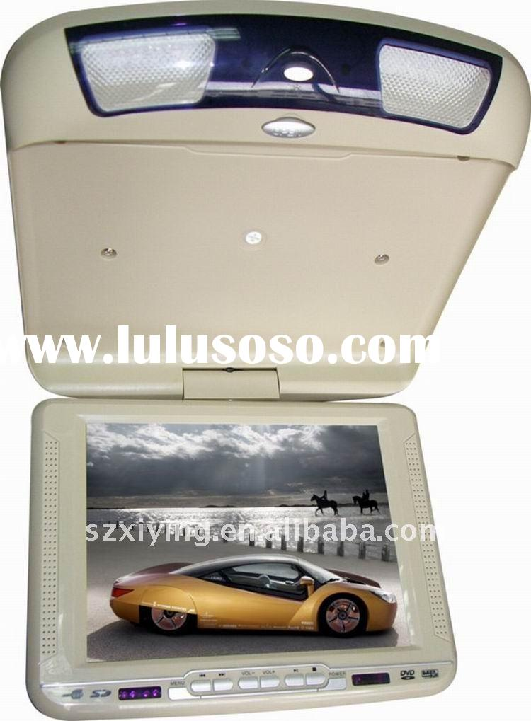 10.4 inch car flip down dvd player support IR with games handles