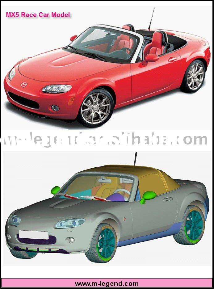 1/24 Scale MX5 plastic model car