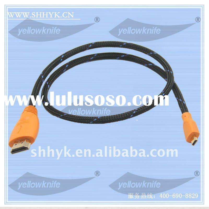 1.4 V HDMI Cable AM to DM, 24K Gold Plated Connector, HD 1080P, Support 3D, Lifetime Warranty