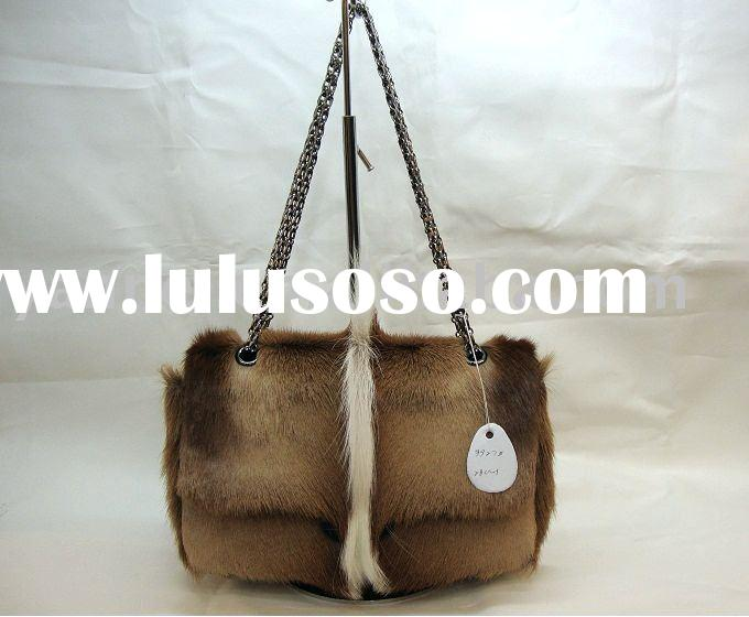 2010 winter fashion Fur lady handbag
