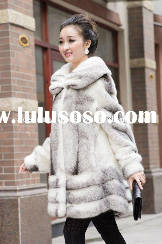 2012 The latest fashion women's natural mink coat