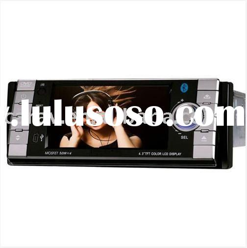 "4.3"" TFT Touch Screen One din car DVD wtih USB/SD/MMC/MP4/AM/FM built-in RDS/BLUETOOTH/ISO CABL"