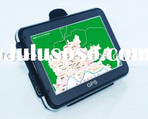 "4.3"" slim portable car GPS navigation support digital TV"