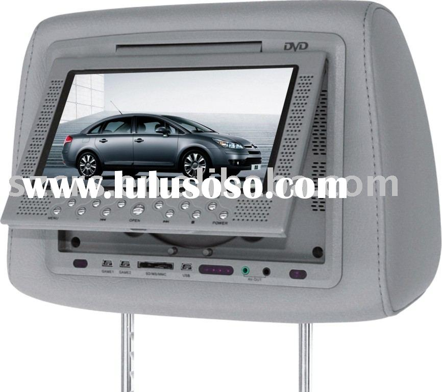 7'' Headrest dvd player with cover/car dvd/car video