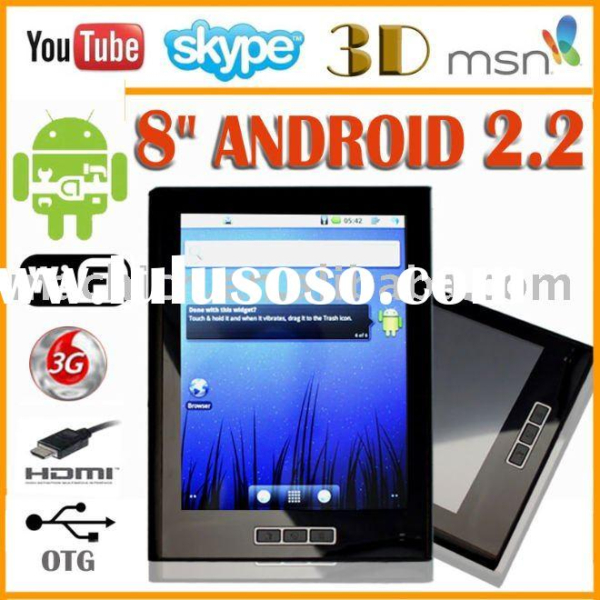 "8"" Pv210 A8 Android 2.2 Flash 10 Tablet Pc 512MB memory 4GB HDD HDMI wifi 3G"