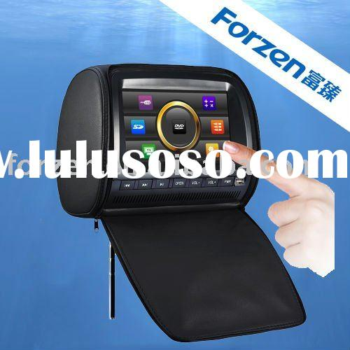 9 inch headrest car dvd with touch screen and digital panel