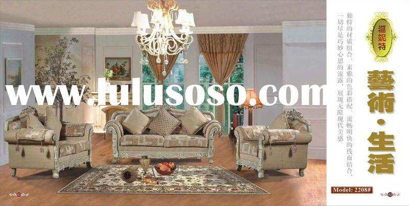 Antique Style High quality fabric sofa hotel/home furniture